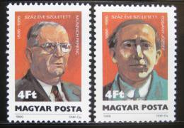 Poštovní známky Maïarsko 1986 Národní hrdinové Mi# 3845-46