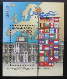 Poštovní známka Maïarsko 1986 Palác Hofburg, Vídeò Mi# Block 187
