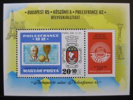 Poštovní známka Maïarsko 1982 Výstava PHILEXFRANCE Mi# Block 157