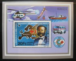 Poštovní známka Maïarsko 1981 Maïarský èervený køíž Mi# Block 149