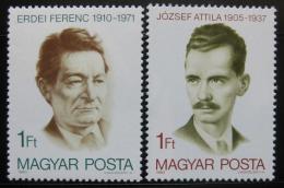 Poštovní známky Maïarsko 1980 Osobnosti Mi# 3427,3467