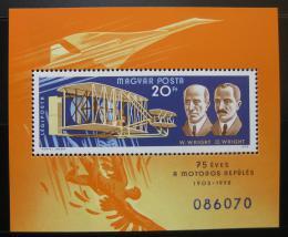 Poštovní známka Maïarsko 1978 Historie letectví Mi# Block 129