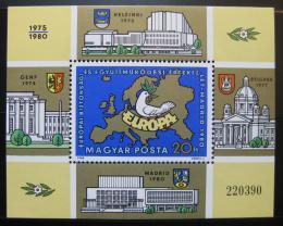 Poštovní známka Maïarsko 1980 Konference rady bezpeènosti Mi# Block 147