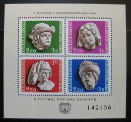 Poštovní známky Maïarsko 1976 Gotické sochy Mi# Bl 118