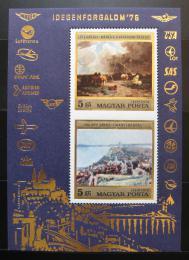 Poštovní známky Maïarsko 1976 Umìní, Loty a Halápi Mi# Block 117