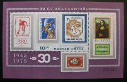 Poštovní známky Maïarsko 1975 Výroèí známek Mi# Block 114