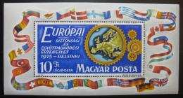 Poštovní známka Maïarsko 1975 Bezpeènost Evropy Mi# Block 113