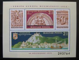 Poštovní známka Maïarsko 1975 Višegradský hrad Mi# Block 115