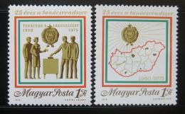 Poštovní známky Maïarsko 1975 Volební systém Mi# 3068-69