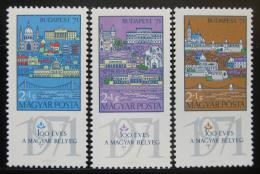 Poštovní známky Maïarsko 1970 Výstava Budapest Mi# 2572-74