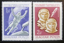 Poštovní známky Maïarsko 1965 Let do vesmíru Mi# 2120-21