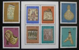 Poštovní známky Maïarsko 1969 Maïarské øezbáøství Mi# 2528-31 + Block 73