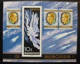 Poštovní známka Maïarsko 1968 Astronauti Mi# Block 63