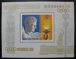 Poštovní známka Maïarsko 1969 Olympijští vítìzové Mi# Block 69
