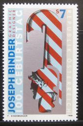 Poštovní známka Rakousko 1998 Joseph Binder, grafik Mi# 2245