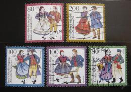 Poštovní známky Nìmecko 1993 Tradièní kostýmy Mi# 1696-1700