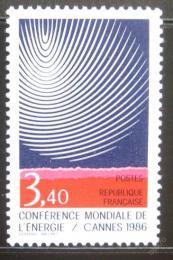 Poštovní známka Francie 1986 Konference o energii Mi# 2578