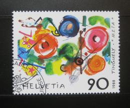 Poštovní známka Švýcarsko 1988 Metamecanique, Jean Tinguely Mi# 1380 Kat 4€