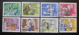 Poštovní známky Švýcarsko 1989-94 Lidé a práce komplet Mi# 1402-03,1413,1463-64,1510,1523,1533 Kat 27€
