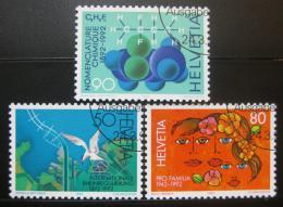 Poštovní známky Švýcarsko 1992 Výroèí a události Mi# 1465-67