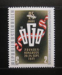 Poštovní známka Rakousko 1971 Asociace odborù Mi# 1369
