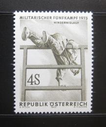 Poštovní známka Rakousko 1973 Vojenský pìtiboj Mi# 1418