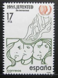 Poštovní známka Španìlsko 1985 Rok mládeže Mi# 2669