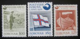 Poštovní známky Faerské ostrovy 1976 Nezávislá pošta Mi# 21-23