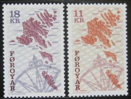 Poštovní známky Faerské ostrovy 1997 Mapy Mi# 320-21 Kat 8€