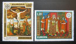 Poštovní známky Andorra Fr. 1975 Evropa CEPT, Umìní Mi# 264-65 Kat 10€