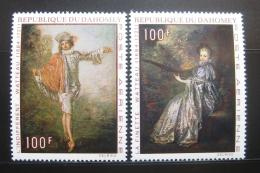Poštovní známky Dahomey 1971 Umìní, J. A. Watteau Mi# 446-47