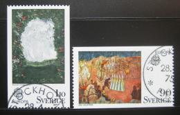 Poštovní známky Švédsko 1975 Evropa CEPT, umìní Mi# 899-900