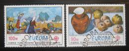 Poštovní známky Kypr Tur. 1975 Evropa CEPT, umìní Mi# 23-24
