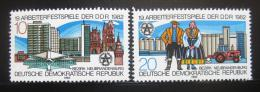 Poštovní známky DDR 1982 Dìlnický festival Mi# 2706-07