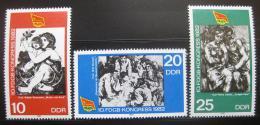 Poštovní známky DDR 1982 Odborová organizace Mi# 2699-2701
