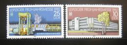 Poštovní známky DDR 1982 Veletrh v Lipsku Mi# 2683-84