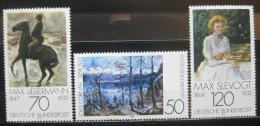 Poštovní známky Nìmecko 1978 Impresionismus Mi# 986-88