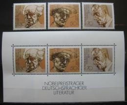 Poštovní známky Nìmecko 1978 Spisovatelé Mi# 959-61 + Block 16