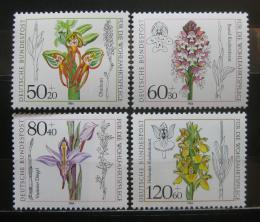 Poštovní známky Nìmecko 1984 Orchideje Mi# 1225-28 Kat 6€