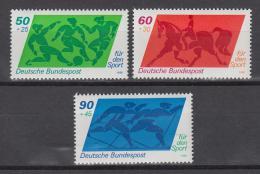 Poštovní známky Nìmecko 1980 Sport Mi# 1046-48