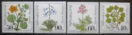 Poštovní známky Nìmecko 1981 Chránìné rostliny Mi# 1108-11