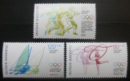 Poštovní známky Nìmecko 1984 Olympijské sporty Mi# 1206-08 Kat 10€