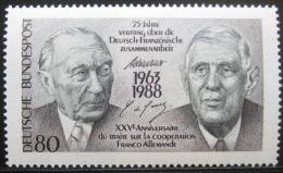 Poštovní známka Nìmecko 1988 Franc.-nìm. spolupráce Mi# 1351