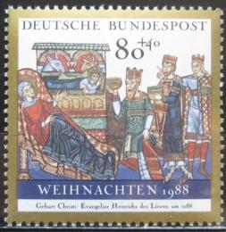 Poštovní známka Nìmecko 1988 Vánoce Mi# 1396 - zvìtšit obrázek