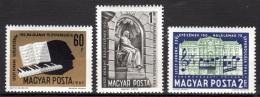 Poštovní známky Maïarsko 1961 Franz Liszt Mi# 1793-95