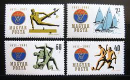 Poštovní známky Maïarsko 1961 Sport, VASAS Mi# 1772-75