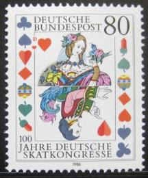 Poštovní známka Nìmecko 1986 Skatový kongres Mi# 1293