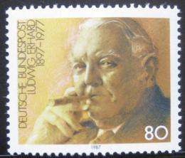 Poštovní známka Nìmecko 1987 Ludwig Erhard, ekonom Mi# 1308