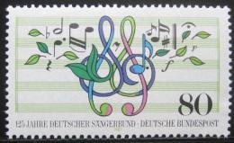 Poštovní známka Nìmecko 1987 Nìmecká pìvecká spoleènost Mi# 1319