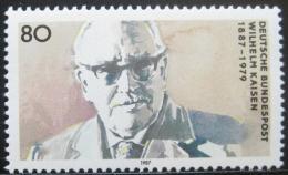 Poštovní známka Nìmecko 1987 Wilhelm Kaisen, politik Mi# 1325